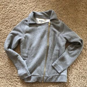 Asymmetrical zipper cotton jacket